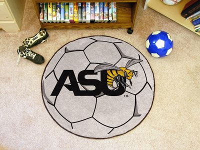 "Alabama State Soccer Ball Rug 29"" diameter"