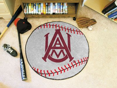 "Alabama A&M Baseball Rugs 29"" diameter"