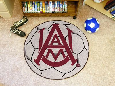 "Alabama A&M Soccer Ball Rug 29"" diameter"
