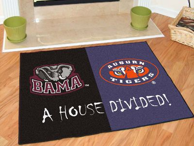 "Alabama - Auburn House Divided Rugs 34""x45"""