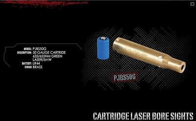.50 CAL LASER BORE SIGHTER/GREEN