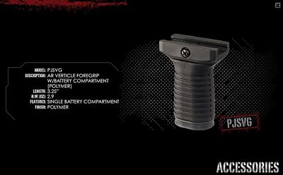 AR VERTICLE FOREGRIP W/BATTERY COMPARTMENT (POLYMER)