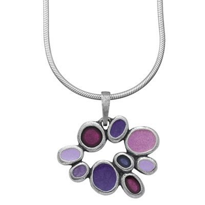 Samba / Violets Studio Line Pewter Necklace