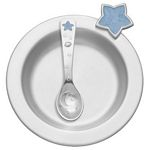 Celestial / Blue Pewter Dish & Spoon Set