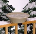 14 in. Bird Bath Deck/Pole - Heated