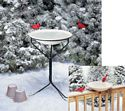 20 in. Heated Bird Bath w/Metal Stand