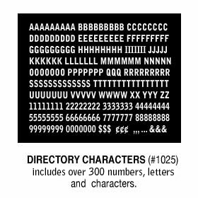 DIRECTORY CHARACTERS