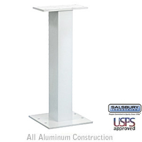 PEDESTAL-FOR CLUSTER BOX UNIT #3308 AND #3312-WHITE