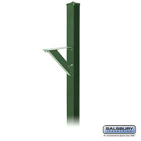 DECORATIVE MAILBOX POST-MODERN-IN-GROUND MOUNTED-GREEN