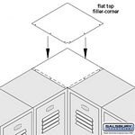 FLAT TOP FILLER-CORNER-FOR 12 INCH DEEP LOCKERS-GRAY