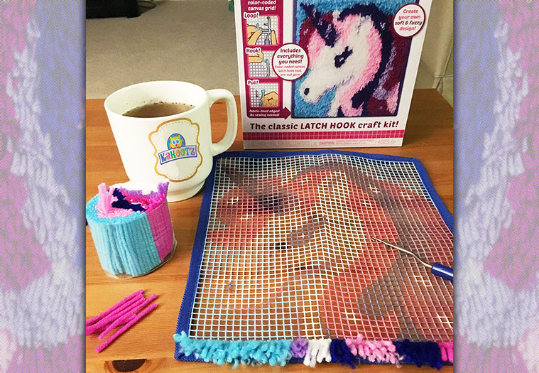 Kahootz Toys Unicorn Latch Hook Rug Kit