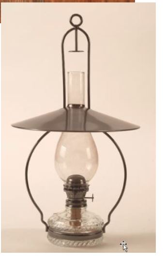 Sugar Creek Supplies Hanging Oil Lamp With Reflector 1052950