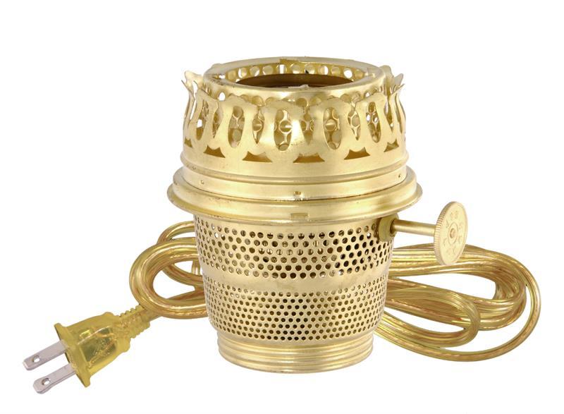 Aladdin Lamp Style Electric Converter Brass Heel Less 30462