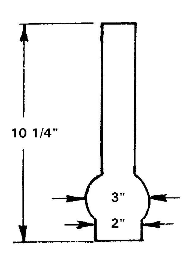 Matador 2 5//8 X 11 inch Kerosene Oil Lamp Chimney NEW OLD STOCK