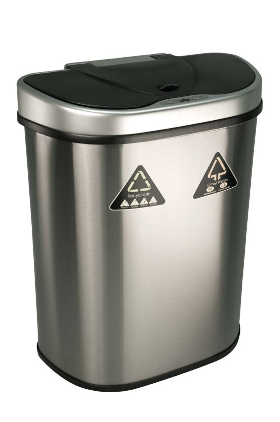 Nine Stars Dzt 70 11r Trash Can Recycler Infrared Touchless Automatic Motion Sensor Lid Stainless Steel