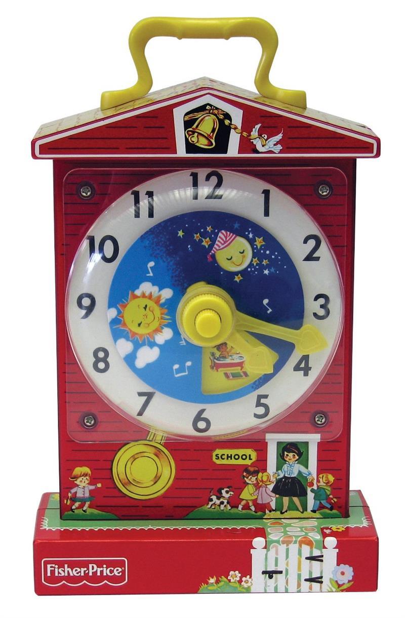 Fisher Price Classics Music Box Teaching Clock #1698