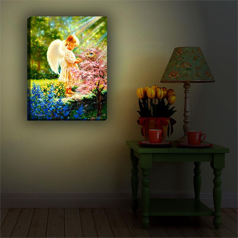 Glow Decor An Angel's Tenderness Illuminated Wall Art #G9712