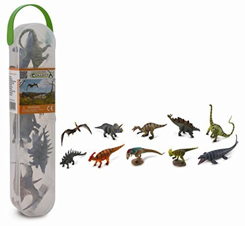 CollectA Box of Mini Dinosaurs 10 Piece Set of Mini Dinosaur Toy Figures A1101