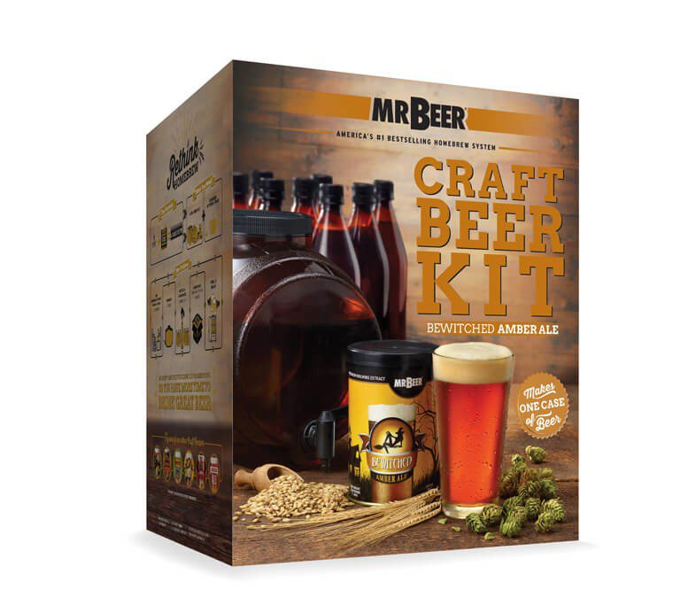 Mr Beer Bewitched Amber Ale Complete Home Brew Craft Beer Making Kit 40 20973 00