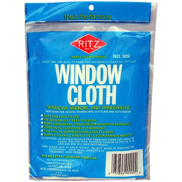 John ritzenthaler company ritz white window cleaning cloth - Best cloth for cleaning windows ...