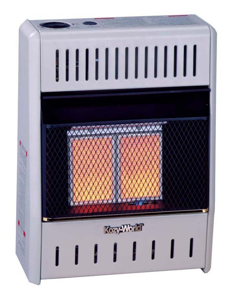 Kozy World Kwn111 10 000 Btu Vent Free Natural Gas Infrared 2 Plaque Wall Heater
