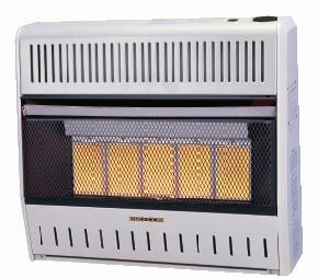 Kozy World Kwn321 30 000 Btu Vent Free Natural Gas Infrared 5 Plaque Wall Heater