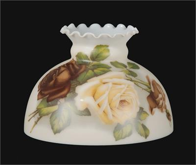 "10"" English Roses Scene Cream Student Lamp Shade #01010"