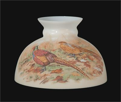 "10"" Student Style Glass Lamp Shade with Pheasants #01033"