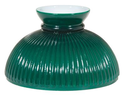"10"" Student Style Green Ribbed Cased Lamp Shade #06001"