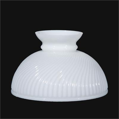 "BP Lamp Supply 10"" Glass Opal Swirl Shade #06010 Aladdin N392"