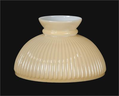 "10"" Nu Gold Tint Ribbed Glass Lamp Shade #06140"