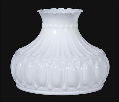 "10"" Glossy Opal White (Crystal Rose Style) Lamp Shade"