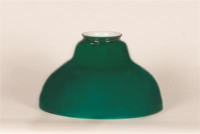 Bell shaped glass lamp shade for antique hanging lamp