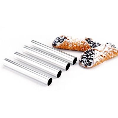 "A good cannoli are those made at home and with Norpro cannoli forms this has never been easier.  Simply cut a 5"" circle of dough, wrap it around a tube and drop it in the oil. Once cooled, the tube is removed to add filling."