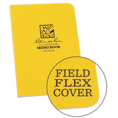 The handy Pocket-Sized Field-Flex Books are great for stowing in tight spots but still large enough to take all your vitals; whether it be an landmark, coordinates, animal sighting, or a phone number, you can trust these little notebooks with the informat