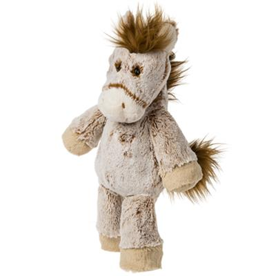 Mary Meyer's Marshmallow Zoo Horse is made from the softest plush we could find. With paws and bum weighted with beans, he 's got that slouchy, much loved feel you get from an old plush companion. Surface wash.
