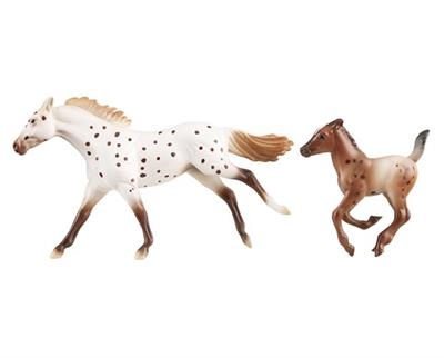 Breyer Horses Stablemates Size Appaloosa Mare and Foal #5393 Spotted Horse Family