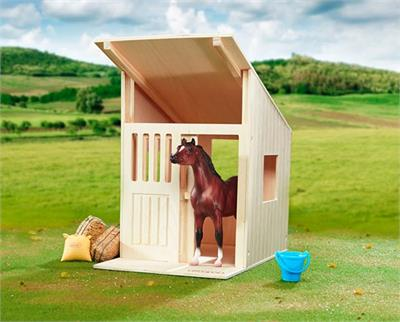 Wood Single Stall Model Horse Stable or Barn. Fun for horse crazy kids.