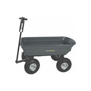 Gorilla Carts 600-Pounds Capacity Dumping Cart, Black #GOR200B
