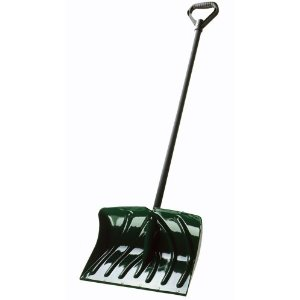 SC1350 18-Inch Snow Shovel/Pusher Combo with Wear Strip, Green