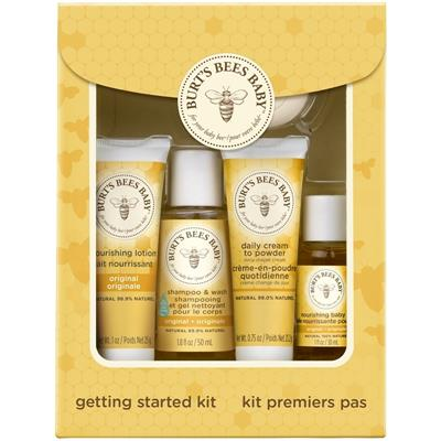 Burt's Bees Baby™ Getting Started Gift Set, makes a welcome baby gift for a new mom. It has everything a mama needs to gently care for her little one's delicate skin. This 5 piece gift set comes in an attractive box making it the perfect gift for Mother's