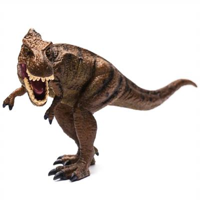 CollectA's detailed replica of the fearsome Tyrannosaurus Rex is lifelike down to the wrinkles in its bumpy hide. The T-Rex is depicted in a threatening stance, mouth open in a ferocious roar. The enormous predator's massive jaw measured 4 feet in length.