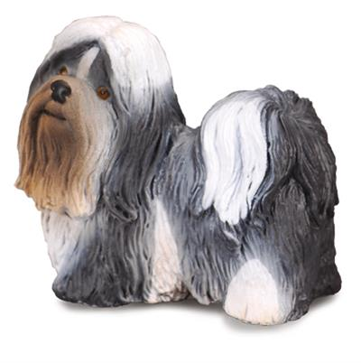 This Shi Tzu figure is realistic in every detail and makes a wonderful addition to any child's collection. This toy dog breed was a prized pet for royalty during the Ming Dynasty. Alert, playful and friendly, the Shih Tzu weighs about 16 pounds when full-