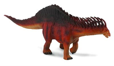 CollectA's replica of the Amargasaurus is detailed and lifelike, down the bumps on its hide and the double row of spines jutting from its spine. Some paleontologists speculate that the spines along the creature's back were covered with some kind of sheath