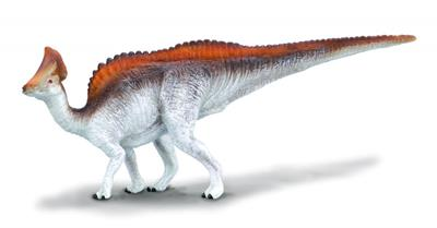 The plant-eating Olorotitan could probably walk on its hind legs and on all fours. This beautifully sculpted, collectible figure from our Prehistoric Life Collection measures 5.7''L x 2.4''H. Each prehistoric figure in our collection has been approved by
