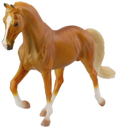 Tennessee Walker toy model horse, yellow, sorrel