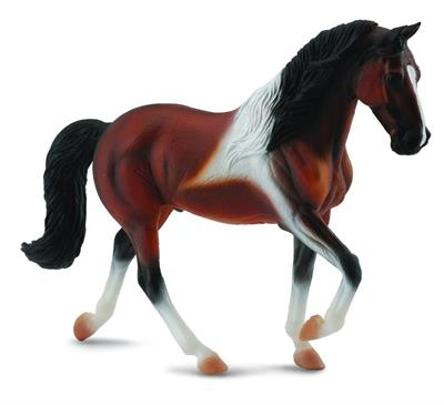 Gaited walking bay pinto horse figurine toy
