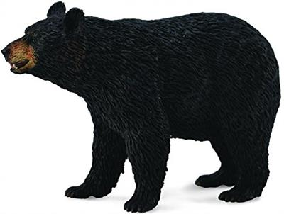 "The 9.0"" L x 2.4"" H American Black Bear is realistic and lifelike in every detail. For Ages 3 and up. sing role play, children gain a deeper knowledge of the animals. Excellent for educational purposes and for use in dioramas, pretend habitat scenes, or"