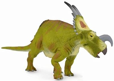 "Einiosaurus means ""Buffalo Lizzard"". This herbivore dinosaur lived during the Upper Cretaceous period. This dinosaur had a large nasal horn rather shaped like a bottle opener decorates the snout."