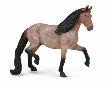 Gaited walking Brazilian Roan stallion toy figurine